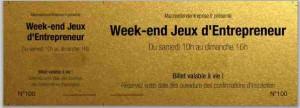 WEEK END JEUX ENTREPRENEUR VIERGE