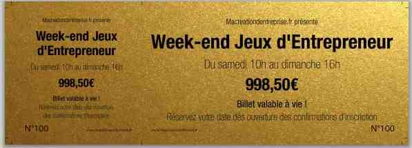 WEEK END JEUX ENTREPRENEUR