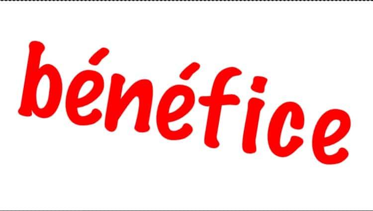 bénéfice définition