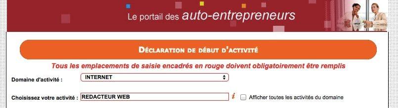 blog auto entrepreneur REDACTEUR WEB