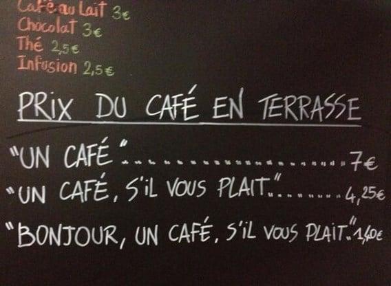 café pas cher
