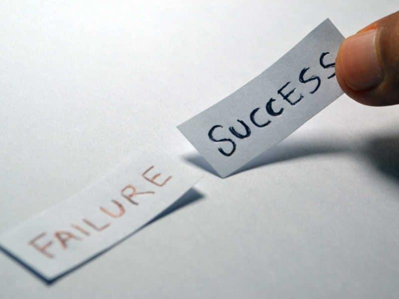 réussir puis echouer echec après succes