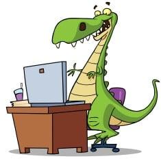 dinosaur-at-computer