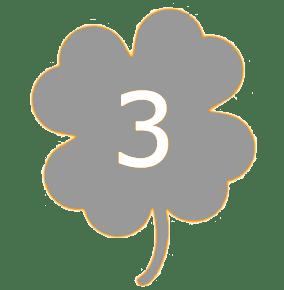 trefle 3 gris