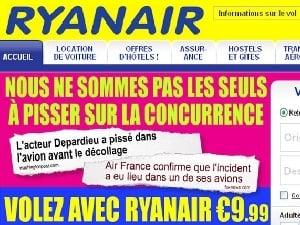 Ryanair, les publicités à réactions